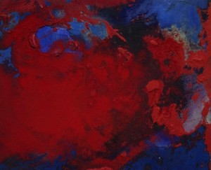 Pictsatellite 49, huile sur carton, 13 x 16 cm, 2013