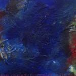 Pictsatellite 50, huile sur carton, 13 x 16 cm, 2013