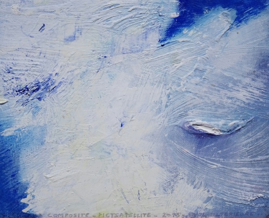 Pictsatellite 53, huile sur carton, 13 x 16 cm, 2013