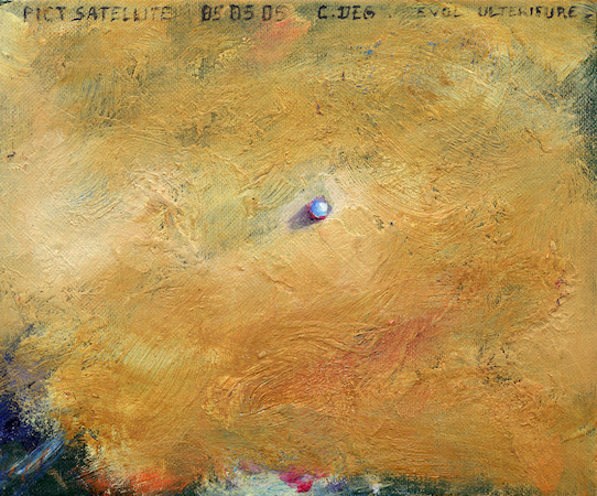 Pictsatellite 7, huile sur carton, 13 x 16 cm, 2005