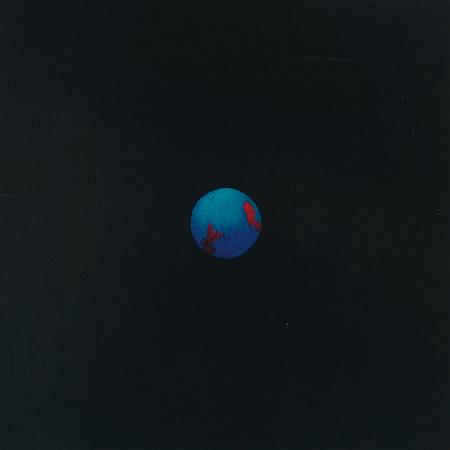 Planisphère 1, huile sur bois, 24 x 24 cm, 2007