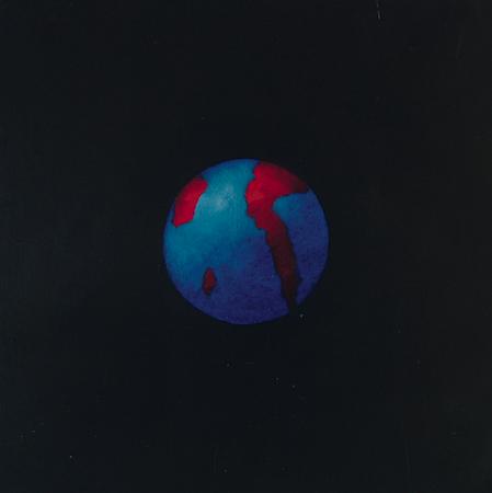 Planisphère 2, huile sur bois, 24 x 24 cm, 2007