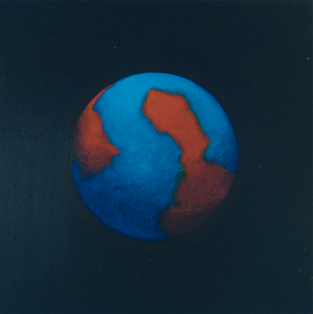 Planisphère 4, huile sur bois, 24 x 24 cm, 2007