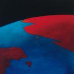 Planisphère 5, huile sur bois, 24 x 24 cm, 2007