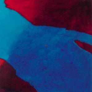 Planisphère 6, huile sur bois, 24 x 24 cm, 2007