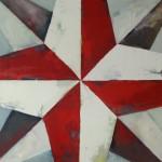 Rose des vents 2, huile sur bois, 120 x 120 cm, 2014