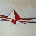 Rose des vents 3, huile sur bois, 120 x 120 cm, 2014