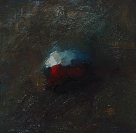 Rouge : Blanc, huile sur bois, 13 x 13 cm, 2012