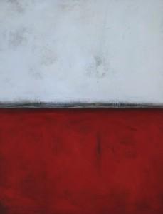 Rouge - Blanc, huile sur bois, 160 x 120 cm, 2000