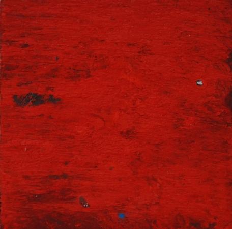 Rouge, huile et pigment sur bois, 13 x 13 cm, 2013