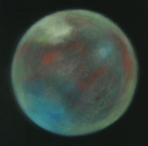 Sans titre 3, huile sur bois, 30 x 30 cm, 2007