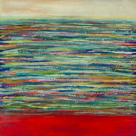 Sans titre 4, huile sur bois, 30 x 30 cm, 2002