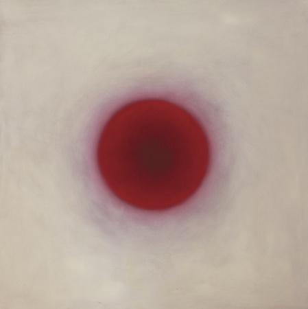 Sphère rose, huile sur bois, 150 x 150 cm, 2010