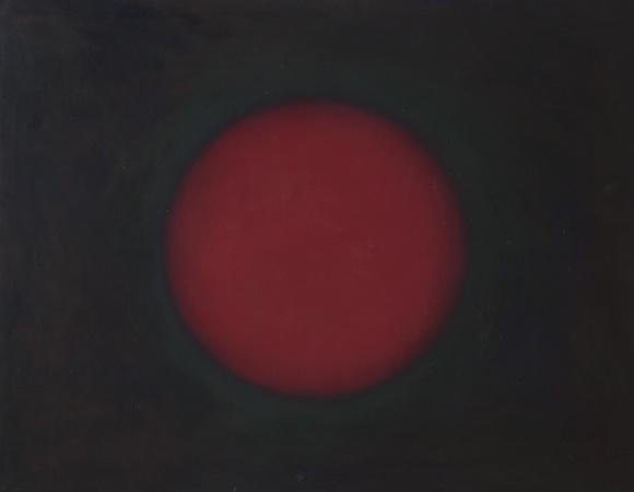 Sphère rouge, huile sur toile, 114 x 146 cm, 2006
