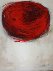 Nid, huile sur bois, 90 x 120 cm, 2014