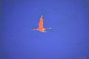 Phénix 4, huile sur carton, 35 x 24 cm, 2014