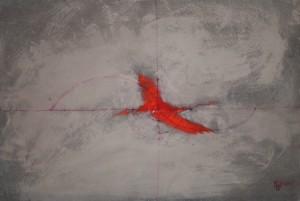 Phénix 5, huile sur carton, 35 x 24 cm, 2014