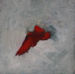 Phénix, huile sur bois, 13 x 13 cm, 2012