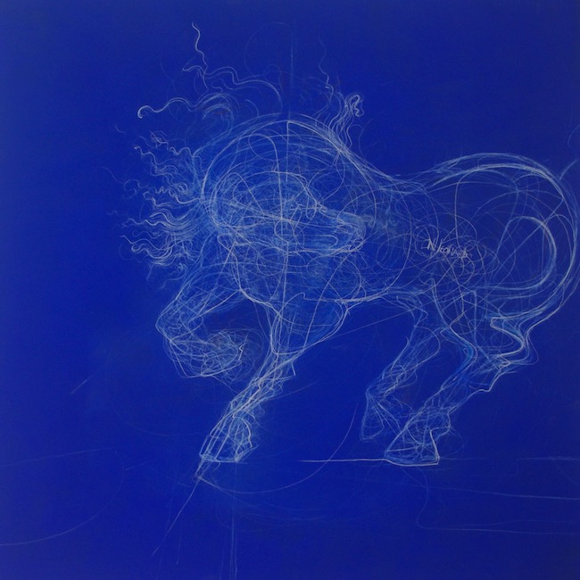 Cheval - 100 x 100 cm - Techniques mixtes : bois - 2018