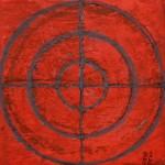 Dessin intuitif 2, huile sur bois, 13 x 13 cm, 2015