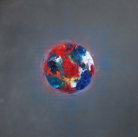 Planète, huile sur bois, 2015