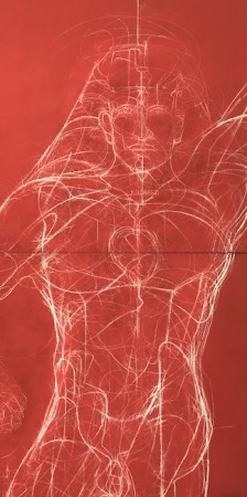 Homme 1 - 180 x 90 cm - Techniques mixtes : bois - 2017