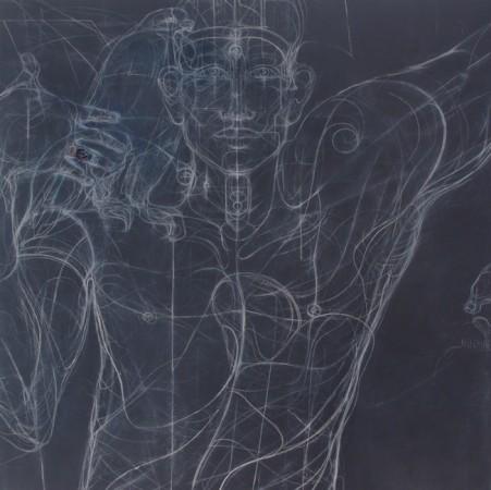 Homme 2 - 120 x 100 cm - Techniques mixtes : bois - 2017