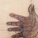 Main, technique mixte sur bois, 100 x 120 cm, 2016